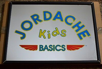VINTAGE 70's 80's JORDACHE KIDS BASICS STORE DISPLAY MIRROR RARE SIGN With Box - 70s Clothes Store