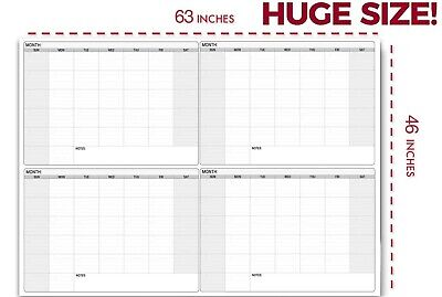 Dry Erase Four Month Laminated Jumbo Wall Calendar 46 X 63