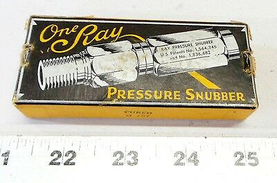 Vintage One Ray Pressure Snubber 25s-2ab Constant 3000 Psi Capacity Pn 11416-2