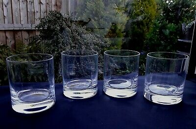 4 DARTINGTON HEAVY VINTAGE GIN & tonic GLASSES Tumbler Whiskey BAILEYS WATER