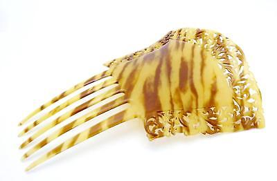Used, Antique Victorian Large Ornate Hand Carved Hair Comb Ornament 24338 for sale  Shipping to India