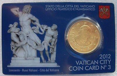 Vaticaan - Vatikaan 50 cent 2012, coincard