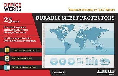 Sheet Protectors Landscape View 11x17 Paper Photograph Document Display 25-packs