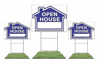 Large Open House Sign 1 18 X 24 Yard Sign 2 12 X 18 Directional