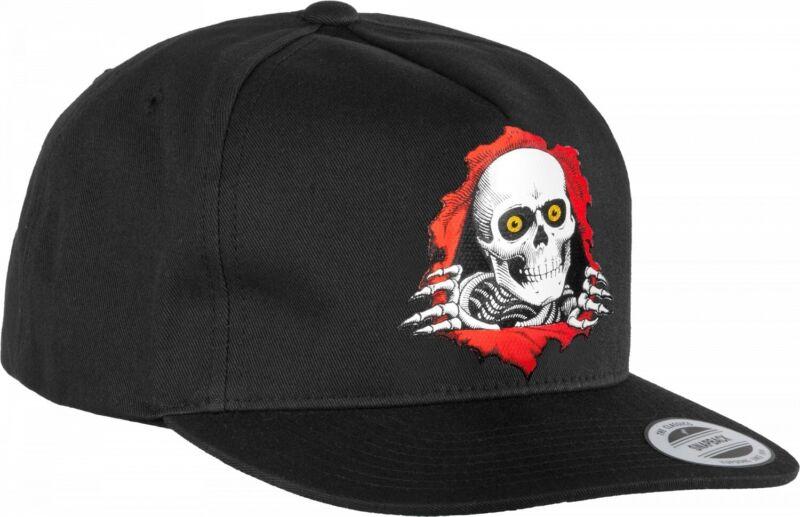 Powell Peralta RIPPER Snapback Skateboard Hat BLACK