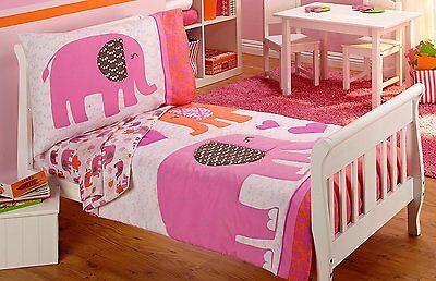 Carter's At Home Elephant Walk 4-Piece Toddler Bedding Set