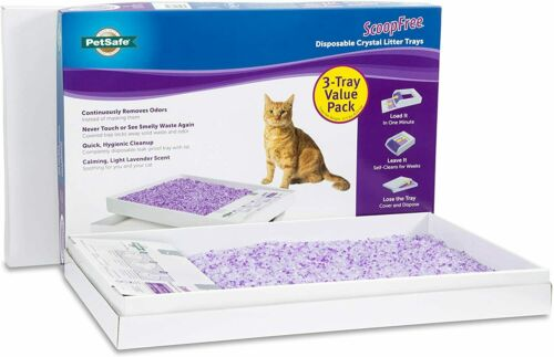 PetSafe ScoopFree Self-Cleaning Cat Litter Box Tray Refills - Non-Clumping Cryst