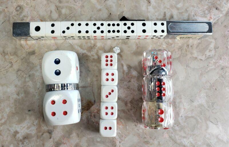 Novelty Dice Shaped Butane Lighter Lot Casino Gambling Gaming