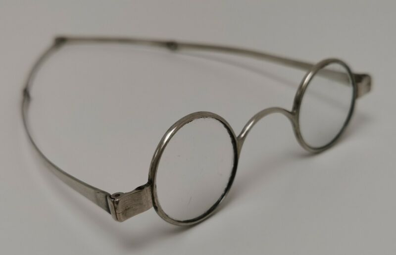 Vtg c1830 Mary Anne Holmes Georgian Solid Sterling Silver Spectacles Glasses