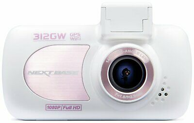 Nextbase 312GW 1080p Full HD GPS G-Force WiFi Dash Cam - Rose Gold