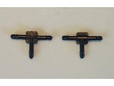 """For Audi 2 Plastic Vacuum Hose Y Splitter T Connectors Windshield Fluid 1/8"""" NOS"""