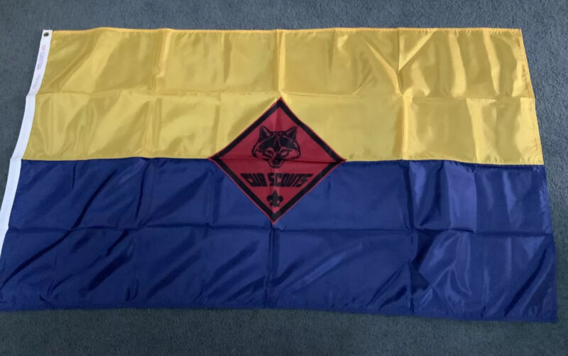 BSA Cub Scout Pack Flag 3'x5' Nylon By Nyl-Glo NOS