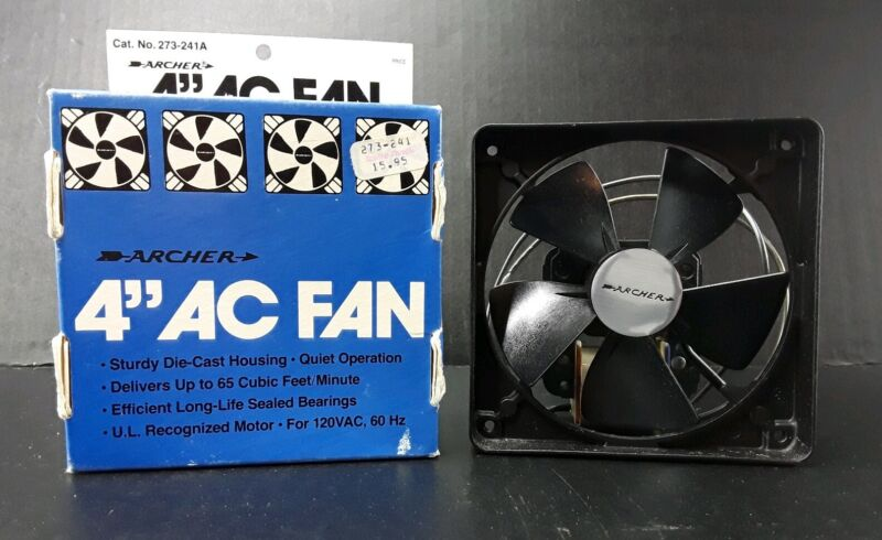 """4"""" AC RADIO SHACK/ ARCHER Cooling Fan  Die-Cast housing for Hi-Fi & Computers"""