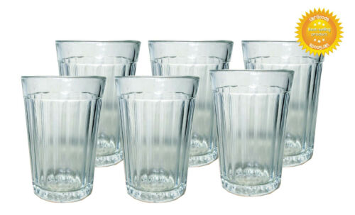 6 pcs Faceted Glass Granenny Granchak Stakan Soviet USSR Tea Vodka 250 ml New