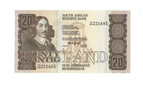SOUTH AFRICA 20 Rand 1978 Reserve Bank P-121a, UNC, D/20, No Security Thread