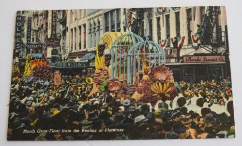 vintage MARDI GRAS PARADE FLOAT Realms of Phantasy NEW ORLEANS postcard LA