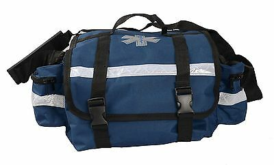First Responder Paramedic Rescue Emt Trauma Bag Blue 17x 9x 7