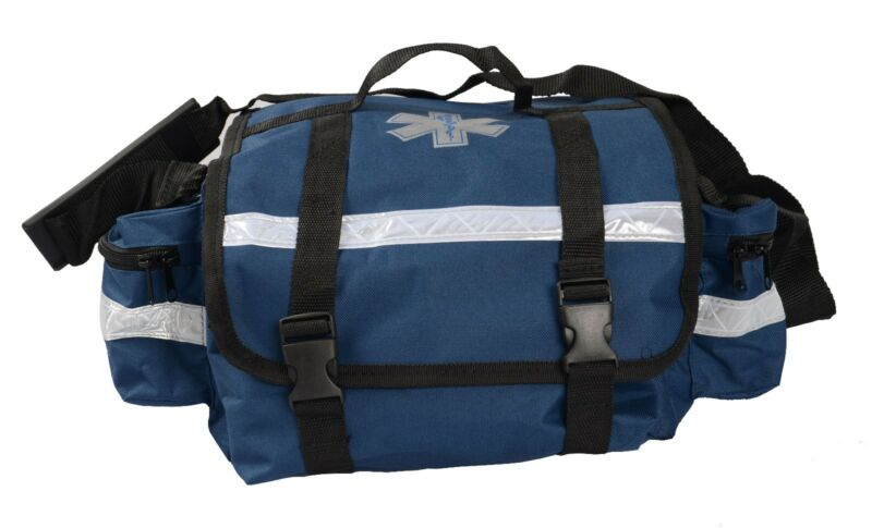 "First Responder Paramedic Rescue EMT Trauma Bag Blue 17""x 9""x 7"""