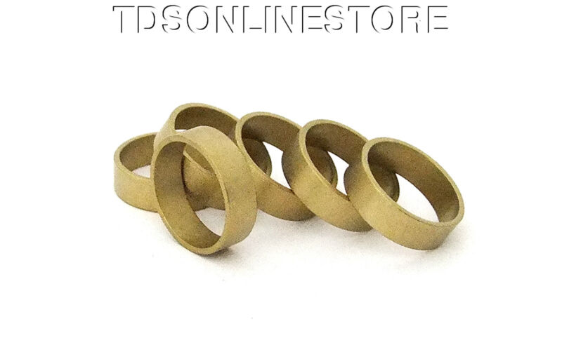 "Raw Brass Flat Ring Blanks 1/4"" Wide Size 9  Pkg Of 6"