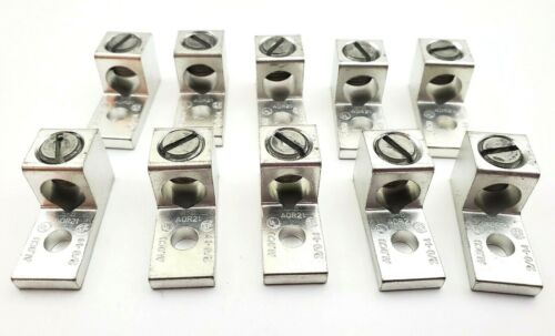 Lot of 10 Blackburn ADR21 Dual Rated Alum Mechanical 1 Hole Lugs #2/0-#14 AWG