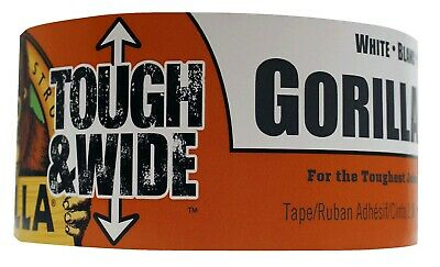 Gorilla 6025302 White Tough Wide Duct Tape 25yd