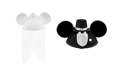 Disney Parks Exclusive Bride Minnie Mouse Groom Mickey Mouse Ea    Free Shipping