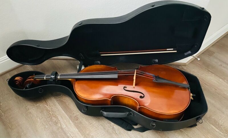 Used Scott Cao Model 850 Guarneri 4/4 Professional Cello with hard travel case