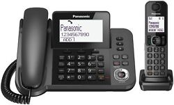 Panasonic KX-TGF320E Corded and Cordless Nuisance Call Block Combo Telephone ...