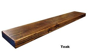 CHUNKY RUSTIC WOODEN FLOATING SHELF SHELVES MANTEL CUSTOM RECLAIMED TIMBER/PINE