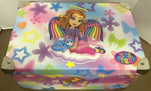 Lisa Frank Storage Box Angel Handles Metal Corners Kitschy Fabulous Vintage Rare
