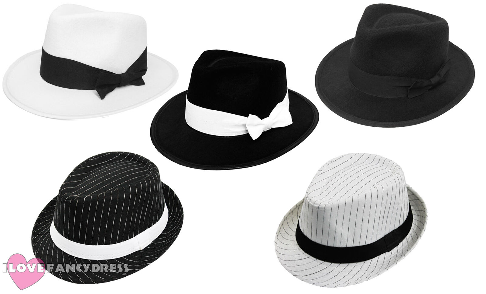 ADULT GANGSTER HAT 1920 S FANCY DRESS TRILBY AL CAPONE GATSBY COSTUME  ACCESSORY b6c406701e7