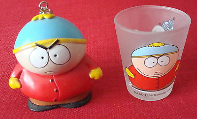 South Park Cartman keyring Figure and shot glass,chain,Comedy Central, southpark