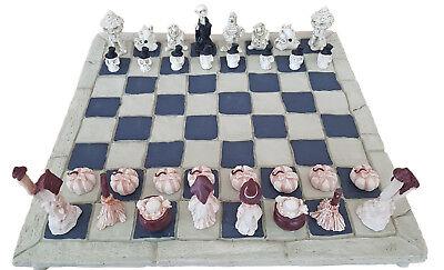 Halloween Kürbisse Spiel (Schachspiel Halloween Totenschädel Totenkopf Gothic Kürbis Gesellschaftsspiel)