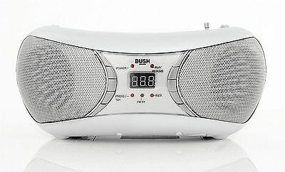 Bush CD Bluetooth Aux Boombox - White CD-78-BTFM