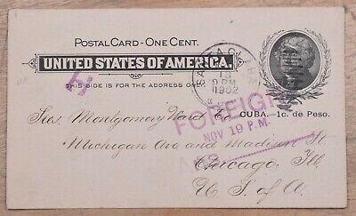 MayfairStamps Habana 1902 Santa Clara to Chicago Illinois Foreign Nov 19 Used St