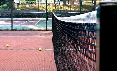 Rete per impianto da tennis in polipropilene con nastro mm 50 e cavo in acciaio