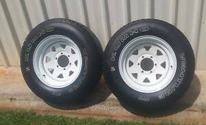 "100% TREAD MATCHING PAIR OF 16"" 4X4 TRAILER WHEELS KUHMO TYRES Kallangur Pine Rivers Area Preview"