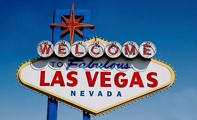 Welcome to Fabulous Las Vegas Sign PHOTO Glossy Color Marquis, Nevada Souvenir