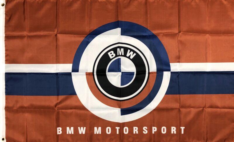 BMW Motorsport Logo Car Flag 3x5 ft Racing Banner M3 M4 M5 M6 M-Power Man-Cave