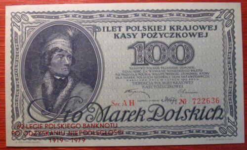 Poland  100 Mkp 1919/1979  Commemorative issue aunc