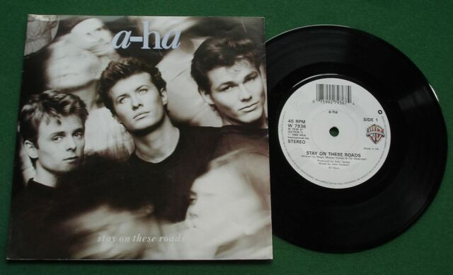 "A-Ha Stay On These Roads / Soft Rains Of April W7936 7"" Single"