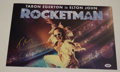 Taron Egerton Signed 11x17 Photo Poster ROCKETMAN Elton John PSA/DNA COA