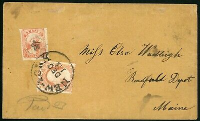 US Cover 136L9 Swarts' City Dispatch Post, on cover tied with 10A 3-cent