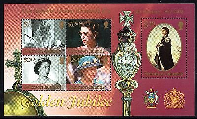 Solomon Islands 2002 Golden Jubilee SG MS1011 Miniature Sheet Unmounted Mint