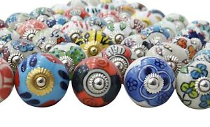 Assorted Multicolor Cabinet Knobs Unique Cupboard Pulls Indian Drawer Mix Knob