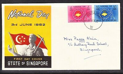Singapore 1962 National Day First Day Cover Addressed Sing No 2