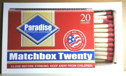 Matchbox 20 / Twenty RARE EARLY 1997 CONCERT GIG POSTER Rob Thomas MINT/no-cd/lp