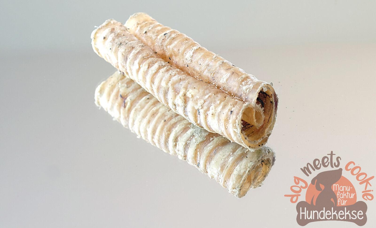Rinderstrossen 12 cm Abschnitte Trachea Luftröhre Strossen wie Rinderohren