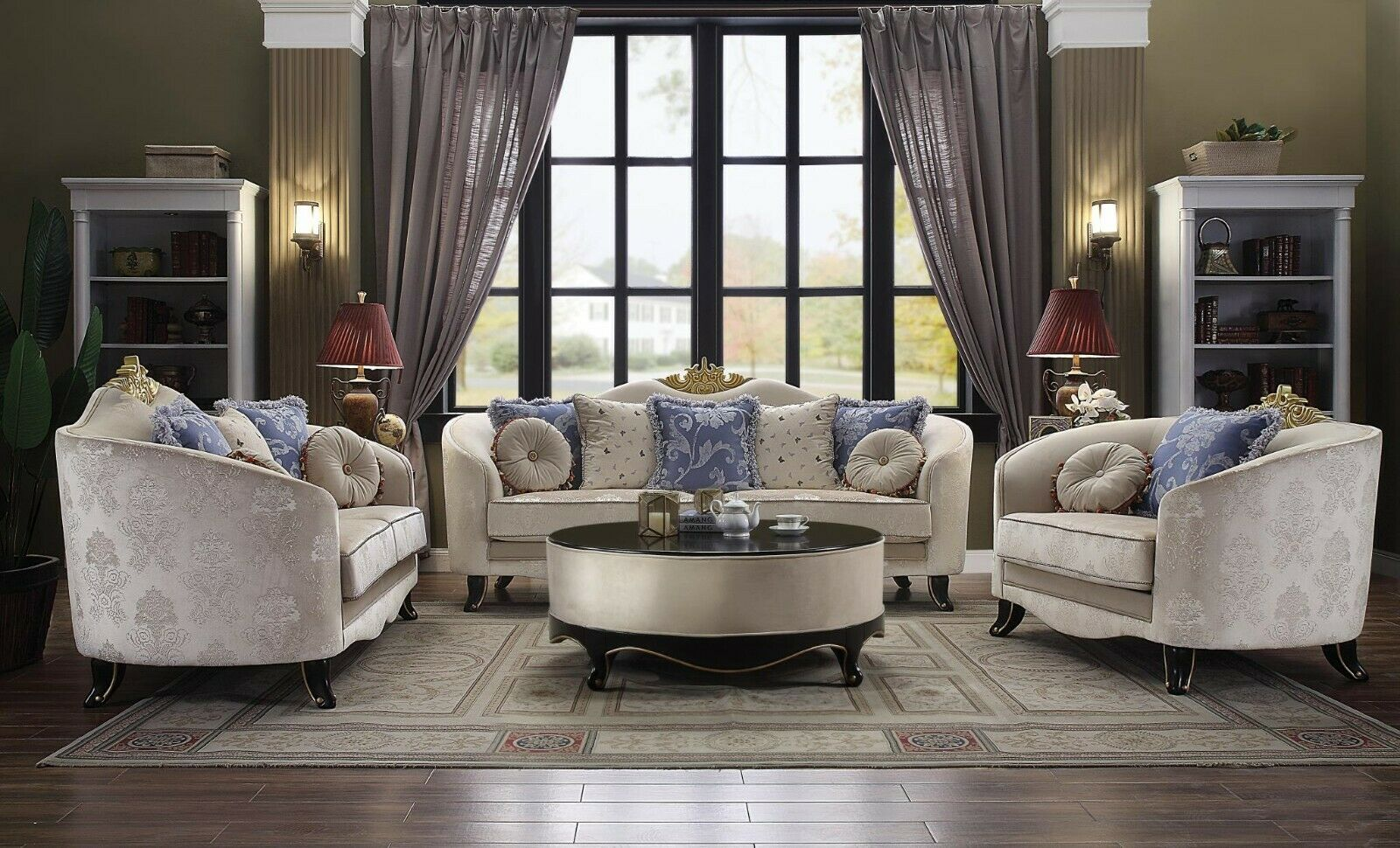 Acme Sheridan Sofa and Loveseat