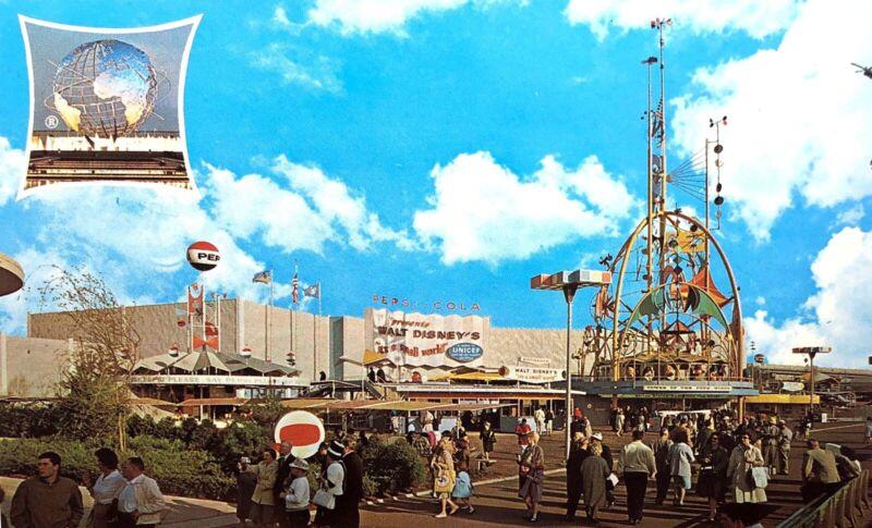 New York World'S Fair 1964 1965 Postcard Pepsi Cola Pavilion (M) Uncirculated